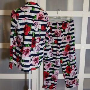 kate spade Intimates & Sleepwear - KATE SPADE Floral Rose Stripe 2 PIECE SET PAJAMA
